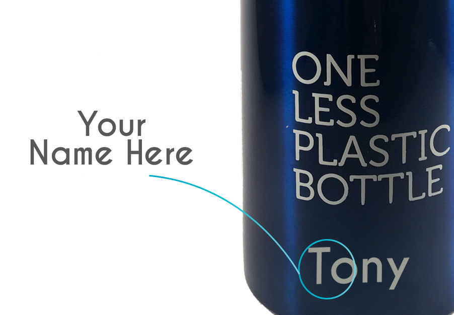 customise name on insulated drink bottle